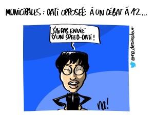 Municipales Paris, Rachida Dati opposée à un débat à 12