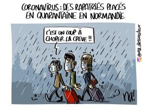 Coronavirus, des rapatriés placés en quarantaine en Normandie