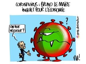 Coronavirus, Bruno Le Maire inquiet pour l'économie