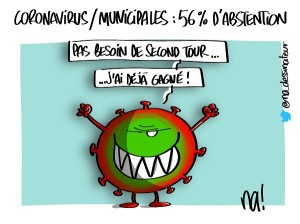 coronavirus, municipales : 56% d'abstention