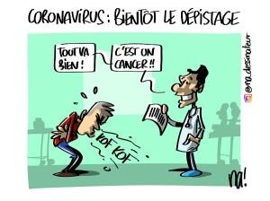 Coronavirus, bientôt le dépistage