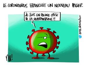 Le coronavirus franchit un nouveau palier
