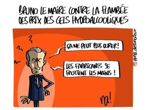 Bruno Le Maire contre la flambée des prix des gels hydroalcooliques