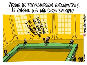 Risque de transmission coronavirus, le conseil des ministres s'adapte