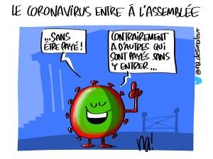 Le coronavirus entre à l'assemblée nationale