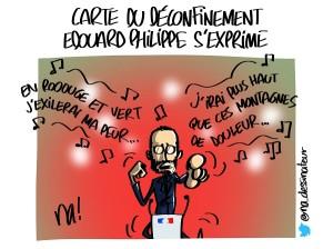 Carte du déconfinement, Edouard Philippe s'exprime