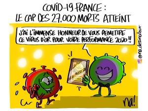 Covid-19 France, le cap des 27.000 morts atteint