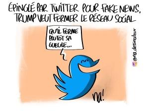 Trump veut fermer Twitter