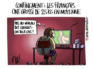 Confinement : les Français ont grossi de 2,5kg en moyenne