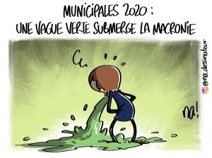 Municipales 2020 : une vague verte submerge la macronie