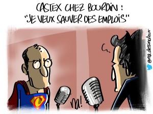 Castex chez Bourdin «je veux sauver des emplois»