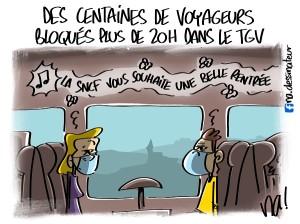 des centaines de voyageurs bloqués dans le TGV