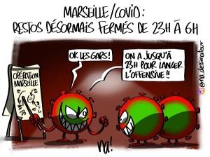 Marseille – COVID, restos désormais fermés de 23h à 6h