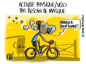 activité physique vélo, pas besoin de masque