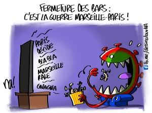 fermeture des bars, c'est la guerre Marseille-Paris !