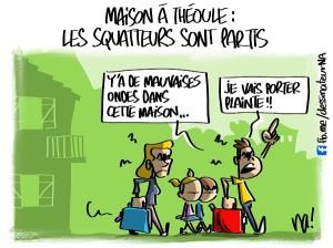 Maison à Théoule, les squatteurs sont partis