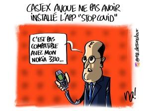 Castex avoue ne pas avoir installé l'app «stopcovid»