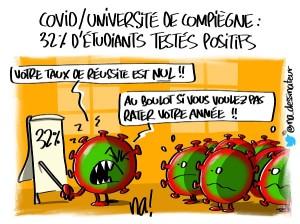 covid – université de Compiègne, 32% d'étudiants testés positifs