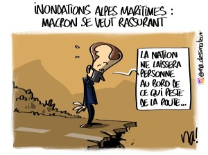 Inondations Alpes-Maritimes, Macron se veut rassurant