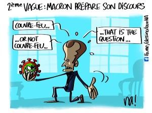 2ème vague, Macron prépare son discours