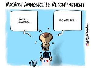 Macron annonce le reconfinement