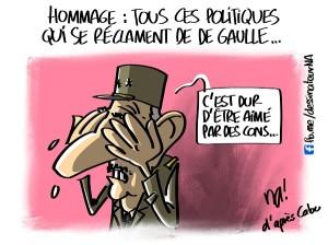 Hommage, tous ces politiques qui se réclament de De Gaulle