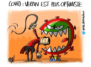 Covid, Veran est plus optimiste