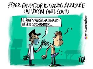dessin bonus du jour : Pfizer annonce un vaccin anti-covid