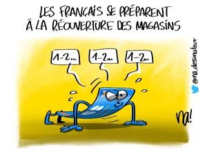 Les Français se préparent à la réouverture des magasins