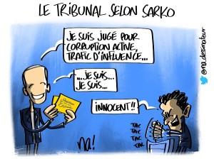 Le tribunal selon Sarkozy