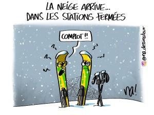 La neige arrive… dans les stations fermées…