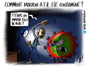 Comment Macron a-t-il été contaminé ?