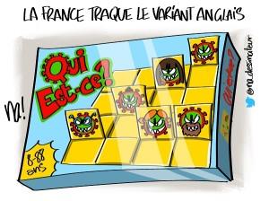 La France traque le variant anglais