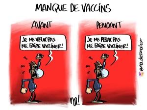 Manque de vaccins