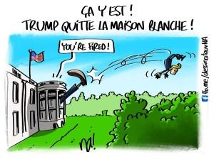Trump quitte la maison blanche