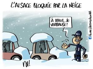 L'Alsace bloquée par la neige