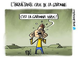 L'inquiétante crue de la Garonne