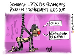 Sondage, 55% des Français pour un confinement plus dur