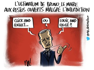 L'ultimatum de Bruno le Maire aux restos ouverts malgré l'interdiction