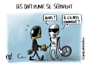 Les Daft Punk se séparent (dessin bonus)