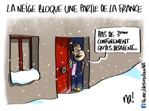 La neige bloque une partie de la France