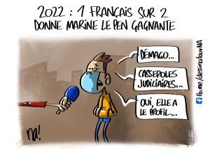 2022, 1 Français sur 2 donne Marine Le Pen gagnante