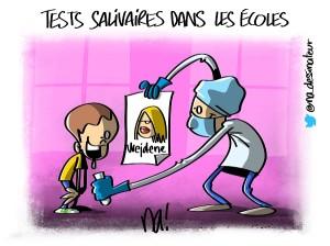 Tests salivaires dans les écoles
