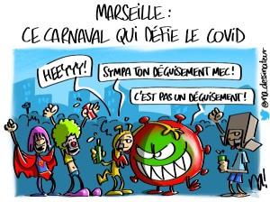 Marseille, ce carnaval qui défie le covid