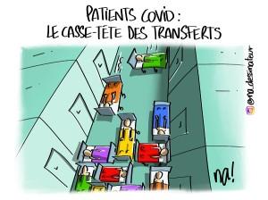 Patients covid, le casse-tête des transferts