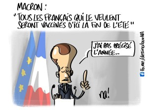 Macron «tous les Français qui le veulent seront vaccinés d'ici la fin de l'été»