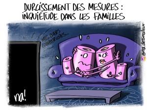 Durcissement des mesures, inquiétude dans les familles