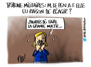 Tribune militaires, Marine Le Pen a-t-elle eu raison de réagir ?