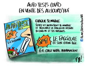auto tests covid, en vente dès aujourd'hui