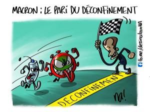 Macron, le pari du déconfinement
